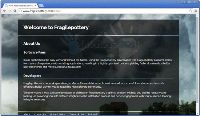 Screenshot image of Fragilepottery