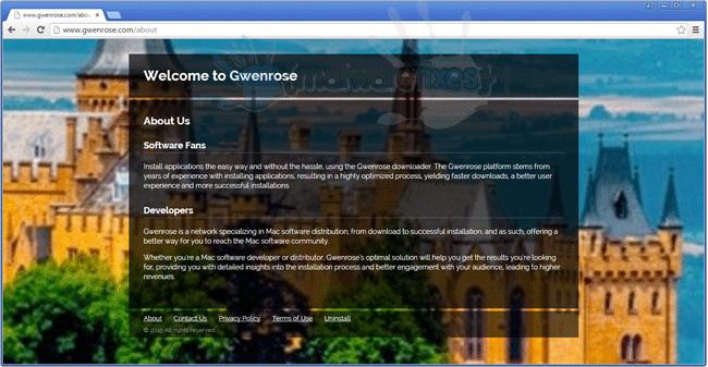 Screenshot of Gwenrose website