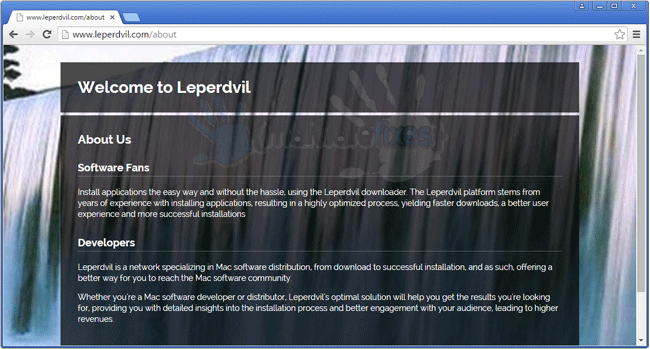 Screenshot of Leperdvil website