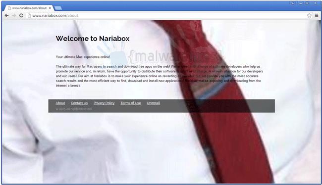Screenshot of Nariabox website