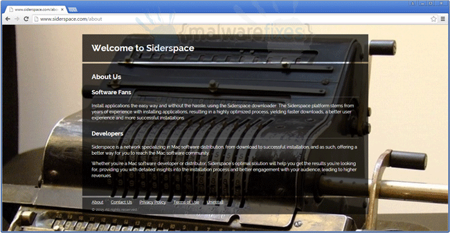 Screenshot of Siderspace website