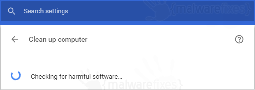 Chrome Cleanup Scanning
