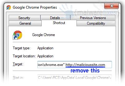 Malicious Shortcut Link