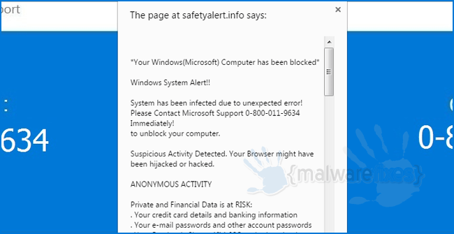 Remove Your Windows Microsoft Computer Has Been Blocked Fake