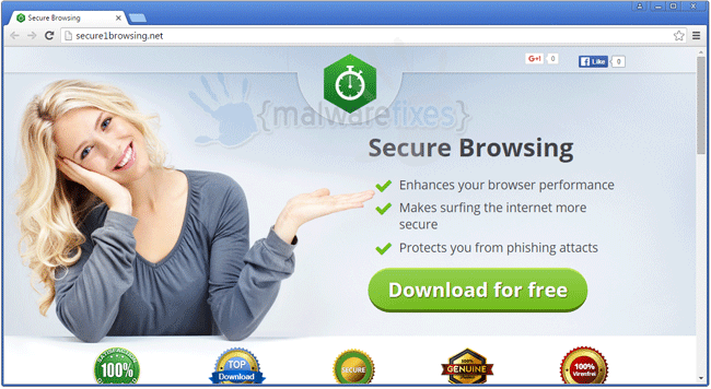 Image of Secure Browsing website