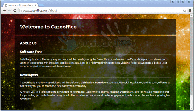 Screenshot of Cazeoffice website