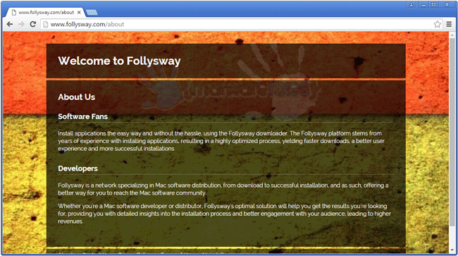 Screenshot of Follysway website