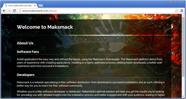 Screenshot of Maksmack website