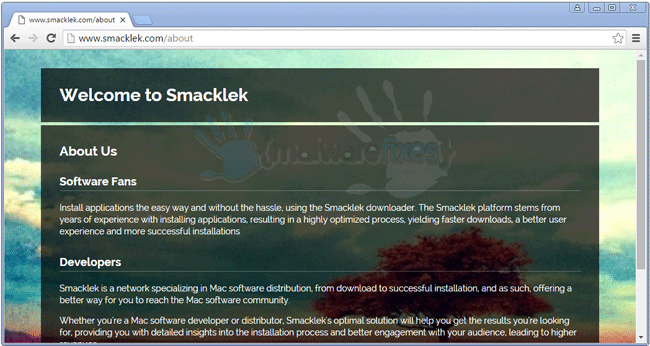 Screenshot of Smacklek website
