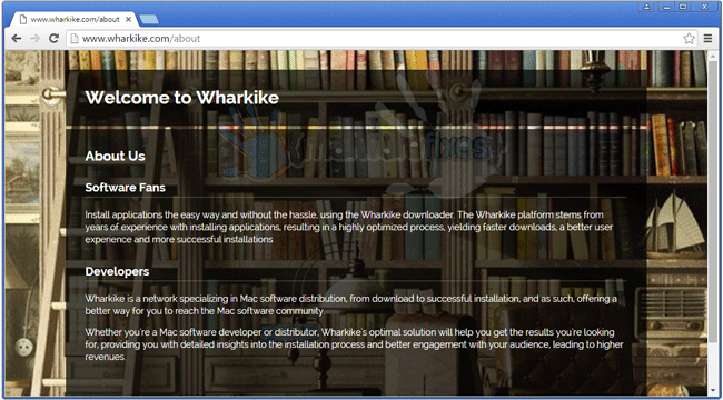 Screenshot of Wharkike website