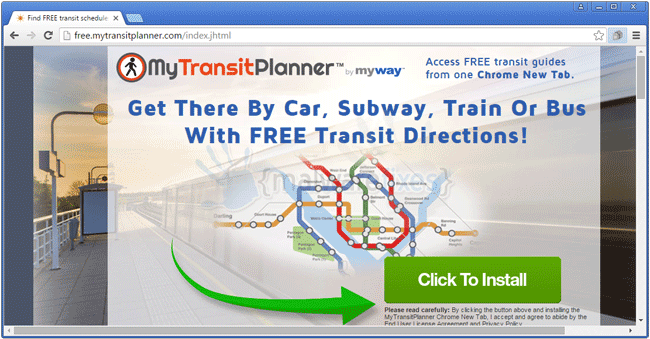MyTransitPlanner Toolbar