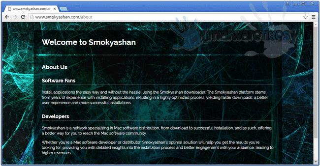 Screenshot of Smokyashan website