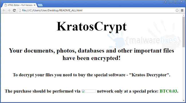 Image of KratosCrypt ransom note