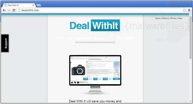 Screenshot of DealWithIt website