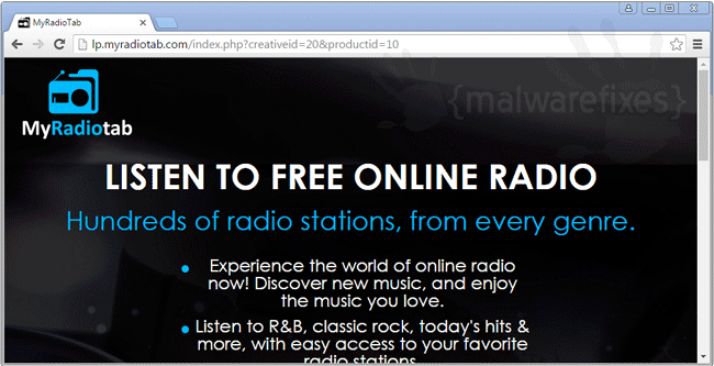 My Radio Tab