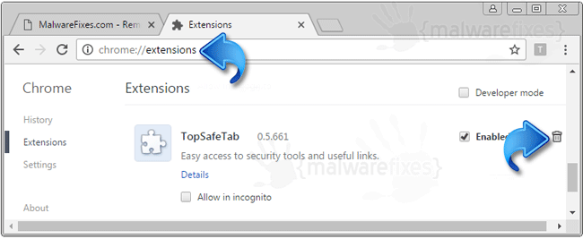 Search.topsafetab.com Extension