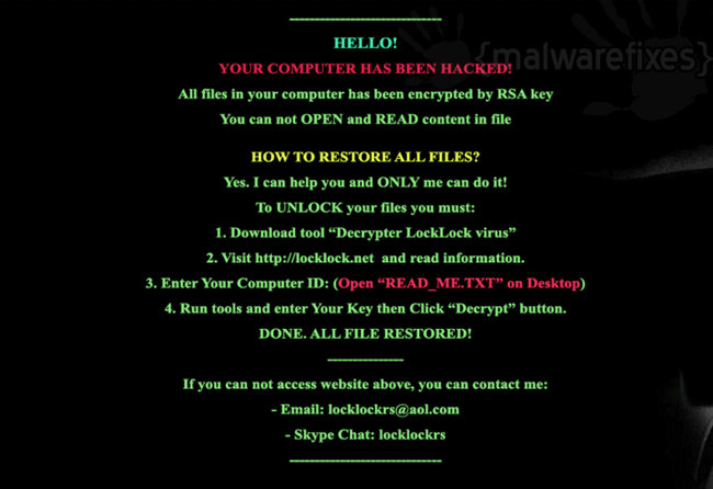 LockLock Virus