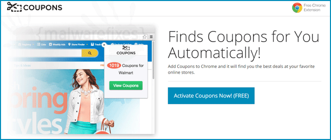 Screenshot of ActivateCoupons ads