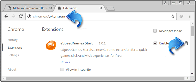 eSpeedGames Start Extension