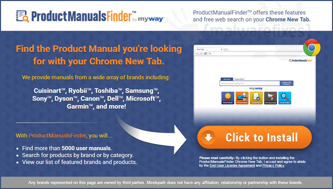 Product Manuals Finder