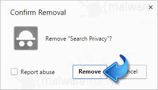 Delete SearchPrivacy.co Extension