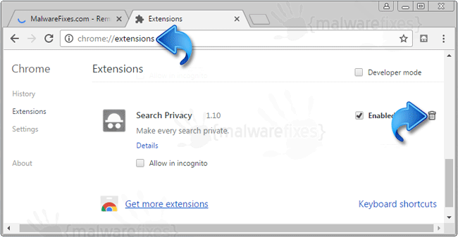 SearchPrivacy Extension