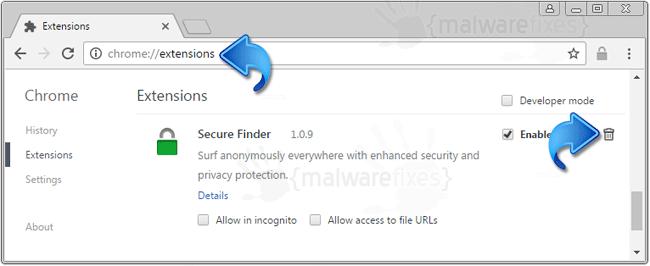 Secure Finder Extension