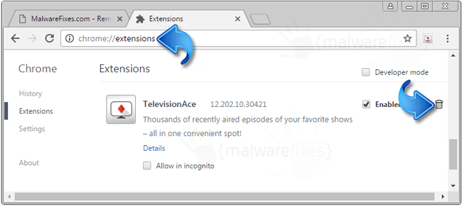 TelevisionAce Chrome Extension