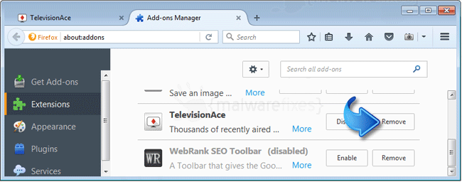 TelevisionAce Firefox Extension