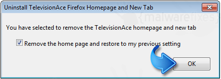 Remove TelevisionAce Firefox Extension