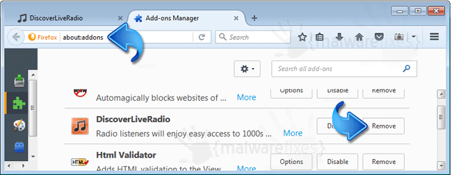 DiscoverLiveRadio Firefox Extension