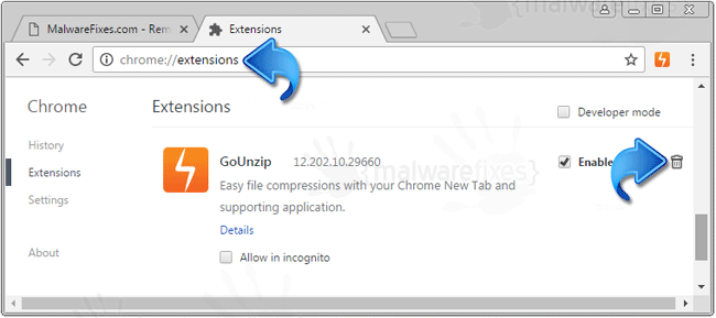 GoUnzip Extension Chrome
