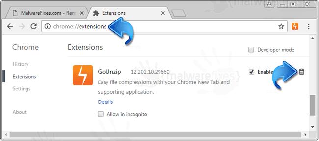 GoUnzip Extension Chrome