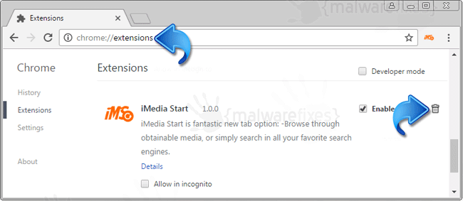 iMedia Start Chrome Extension