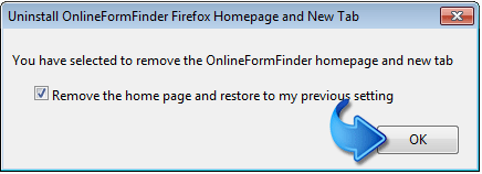 Remove Online Form Finder Firefox Extension