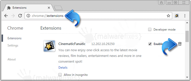 CinematicFanatic Chrome Extension