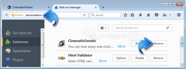 CinematicFanatic Firefox Extension
