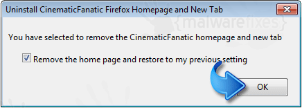 Remove CinematicFanatic from Firefox