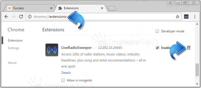 LiveRadioSweeper Chrome Extension
