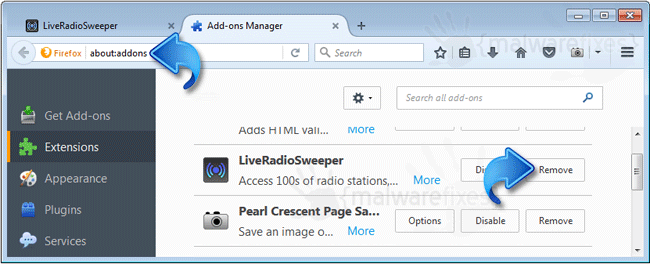 LiveRadioSweeper Firefox Extension