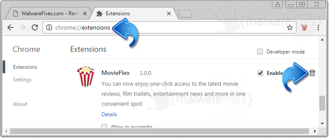 MovieFlex Chrome Extension
