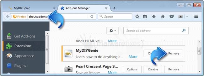 MyDIYGenie Firefox Extension