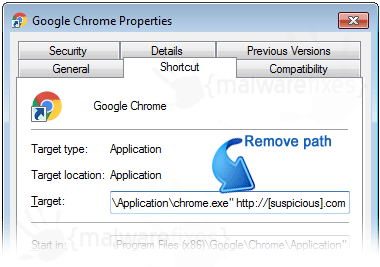 Chrome Shortcut Link