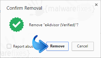 Delete eAdvisor from Chrome