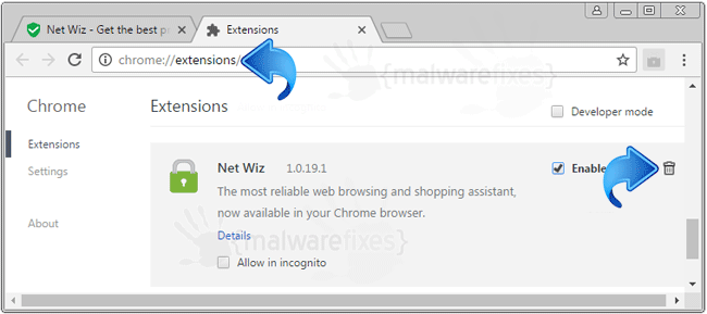 Net Wiz Chrome Extension