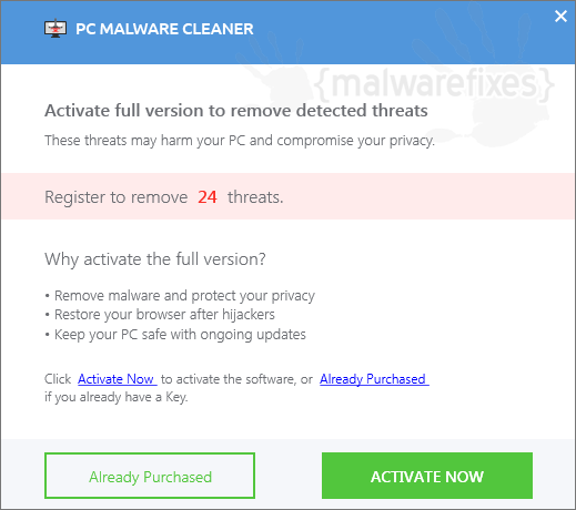 Register PC Malware Cleaner