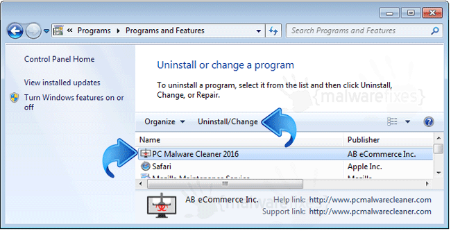 Add Remove PC Malware Cleaner