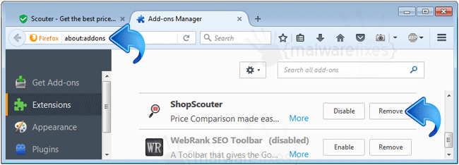 ShopScouter Firefox Extension