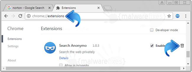 Search Anonymo Chrome Extension