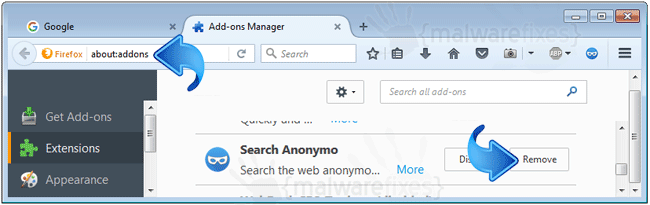 Remove Search Anonymo from Firefox